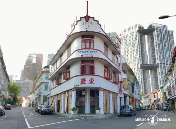 「スリーバンズ(Three Buns)」がお店を構える旧東亜ビル