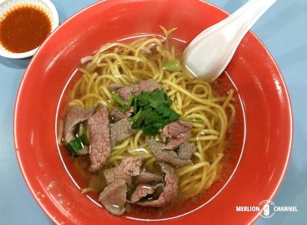 「アモイストリート・フードセンター」桐記牛肉粿條Hong Kee Beef Noodle(#01-42)のビーフヌードル