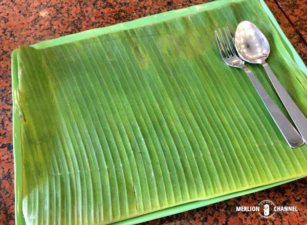 バナナリーフアポロのお皿はバナナの葉っぱ