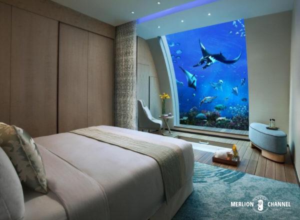 リゾートワールド・セントーサのBeach Villaの一室「オーシャン・スイート」