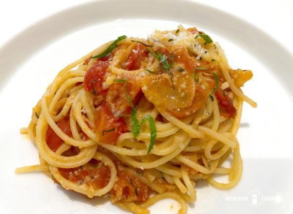 「% Arabica」のトマト・スパゲッティ