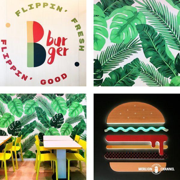 B Burger店内インテリア