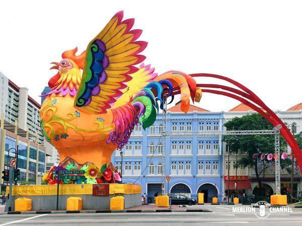 チャイナタウン恒例の装飾