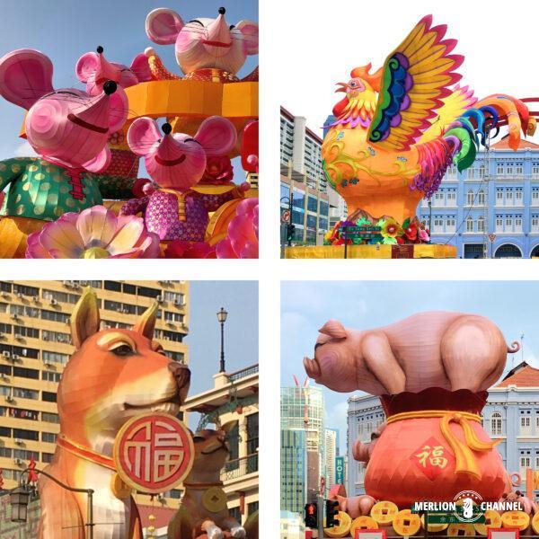 毎年恒例、チャイナタウンの干支装飾
