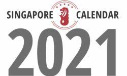 シンガポール2021年カレンダー