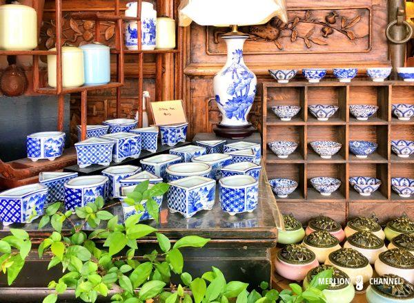 チャイナタウンにある中国アンティークのお店