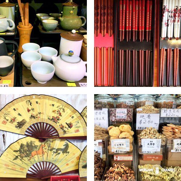 チャイナタウンで売っている中国雑貨や食品類