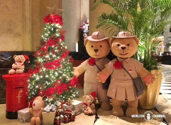 フラトンホテルのクリスマス・ディスプレイ