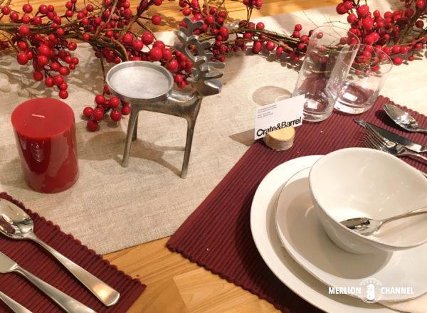 クレイト&バレルの素敵なクリスマス・テーブルコーディネート