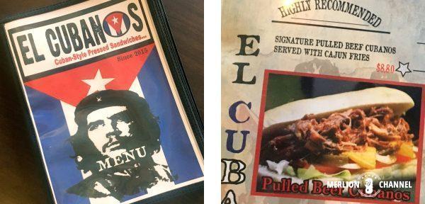 El Cubanosメニュー