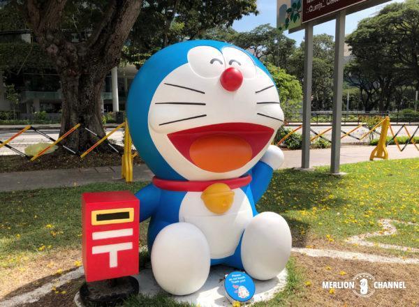シンガポール国立博物館「ドラえもん展」郵便ロケット