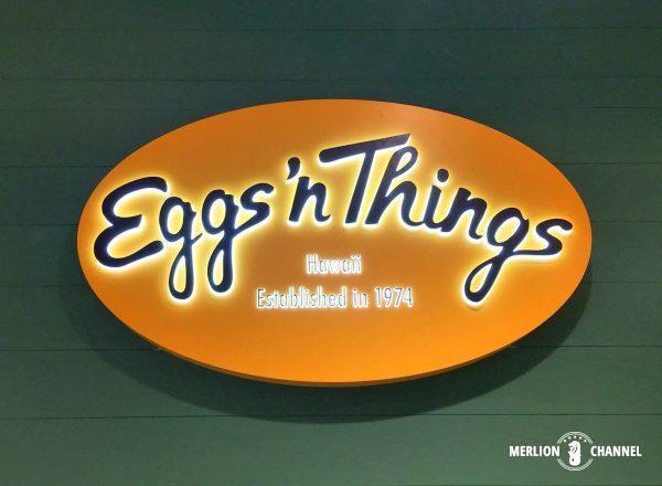 Eggs'n Thingsのロゴ看板