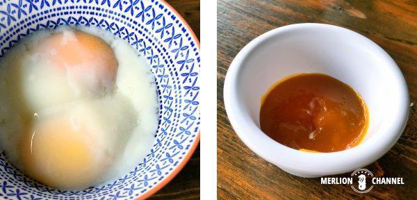 ファイヤーベイクの半熟卵とカヤジャム