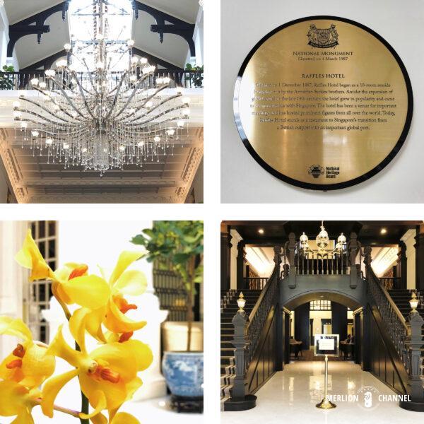 ラッフルズホテル「グランド・ロビー(Grand Lobby)」ホテル本館内の雰囲気