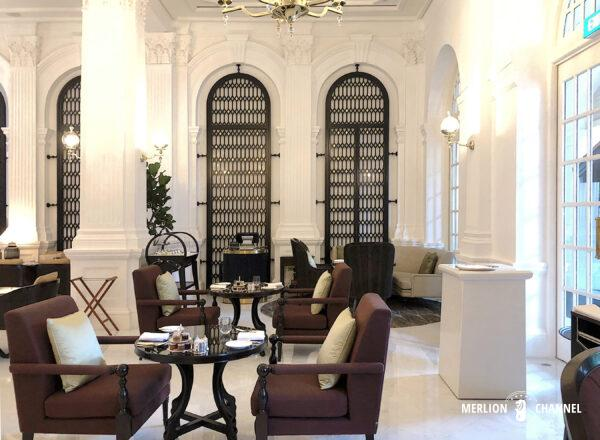 ラッフルズホテル「グランド・ロビー(Grand Lobby)」の席