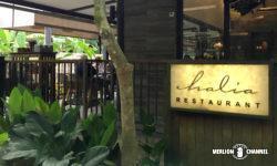 ボタニックガーデンのレストラン「ハリア」の入口