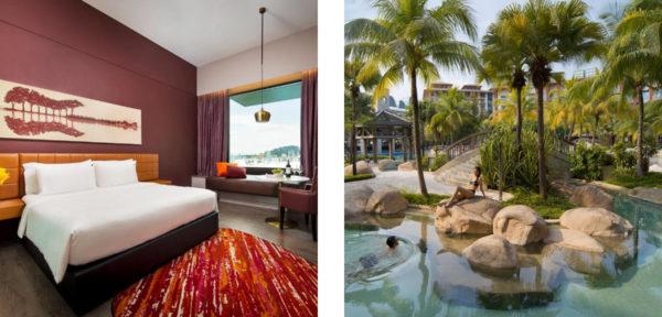ハードロック・ホテルの部屋&プール
