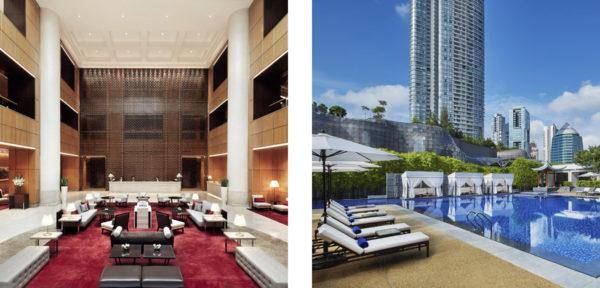 シンガポール・マリオット・タン・プラザホテルのプール