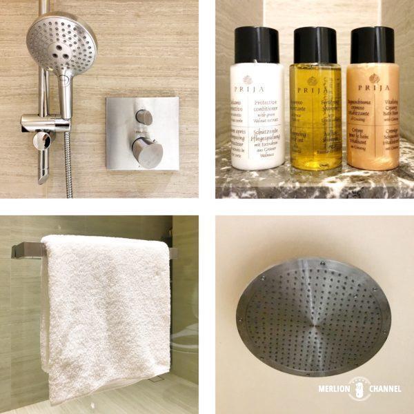ジュエル「チャンギラウンジ」のシャワー室