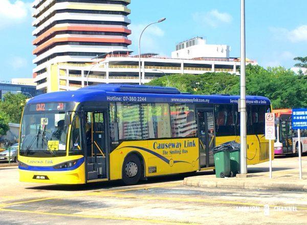 ジョホールバル行きCauseway Linkのバス