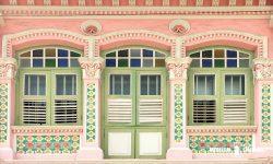 タイル装飾が美しいプラナカン建築