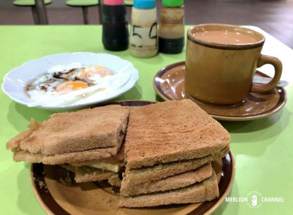 「亜成海南珈琲(Ah Seng Hai Nam Coffee)」のカヤトースト