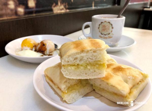 「グッドモーニング・ナンヤン・カフェ(Good Morning Nanyang Cafe)」のオレンジ・チャバタ・カヤトースト
