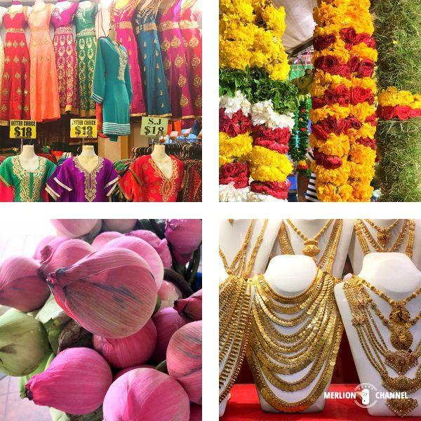 リトルインディアに並ぶ商品