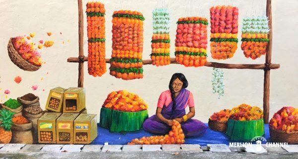 Little Indiaにある壁画