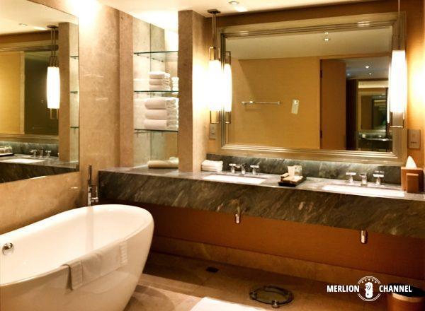 マリーナベイサンズのバスルーム