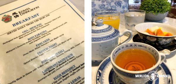 ブティックホテル「セブン・テラシズ」の朝食メニュー