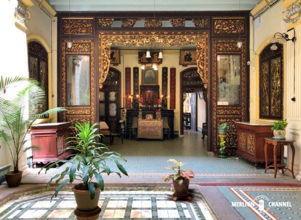 「ババ&ニョニャ・ヘリテージ博物館」の1階パティオ