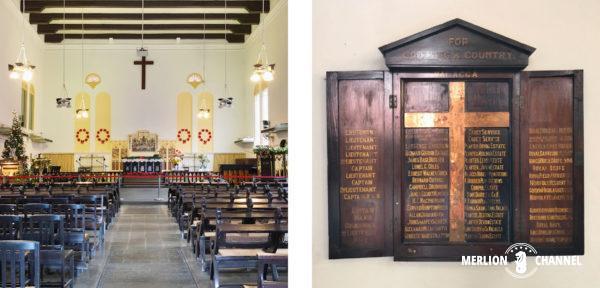 「マラッカ・キリスト教会」の内部