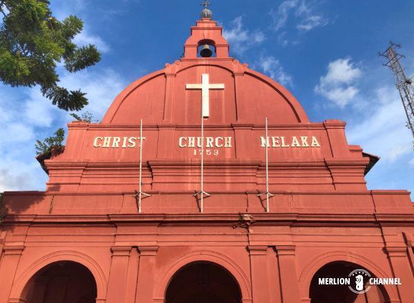 オランダ広場の正面に位置するランドマーク「マラッカ ・キリスト教会」
