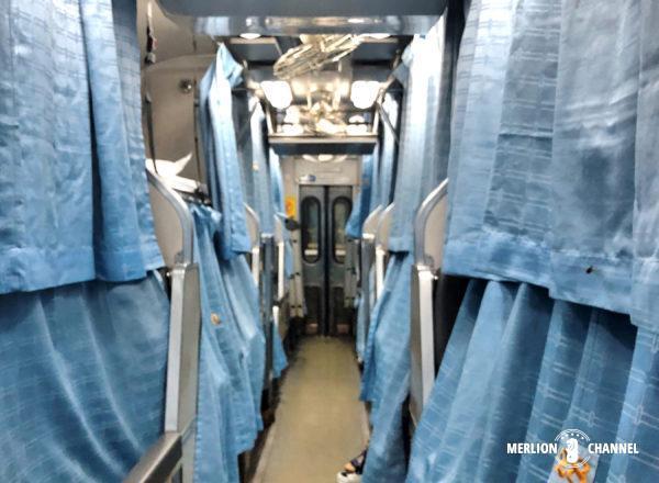タイ国鉄の寝台特急、就寝時の車内