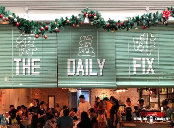 マラッカのカフェ「デイリーフィックス(The Daily Fix)」すだれ