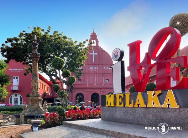 マラッカ観光の中心となる「オランダ広場」