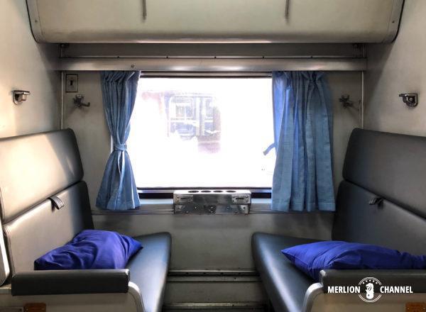 タイ国鉄の寝台特急No.45の座席