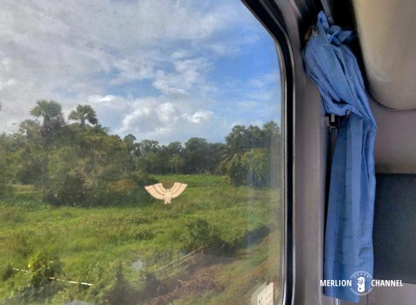 タイ国鉄の寝台特急No.45からの車窓