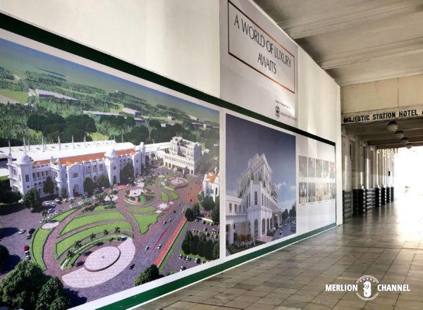 イポー駅に新装再オープンする「グランド・マジェスティック・ホテル」の完成予想図