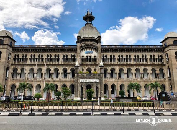 おなじみKTMのロゴマークが見えるマレー鉄道公社ビル(Railway Administration Building)