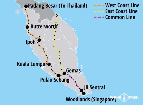 マレー鉄道の路線図マップ