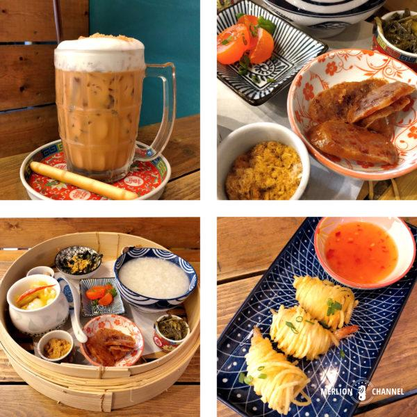 Lhong Tou Cafeのドリンク&フード