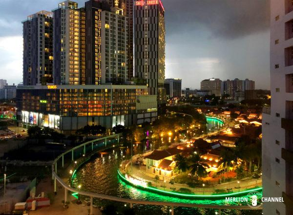 マラッカの老舗ホテル「ザ・マジェスティック 」から眺める夜景