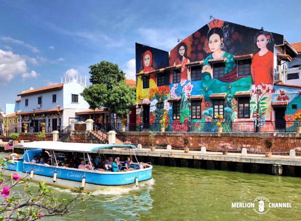 マラッカの街並みを水上から楽しめる「マラッカ・リバークルーズ」