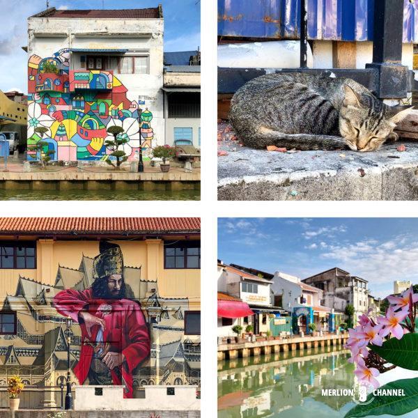 マラッカ川沿いのアートや風景