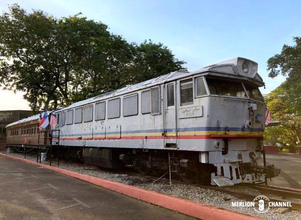 「Melaka Historical Vehicle Park」に屋外展示されているマレー鉄道の車両