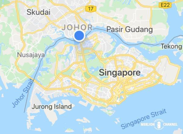 「ジョホールバル」から「シンガポール」に向けて出発