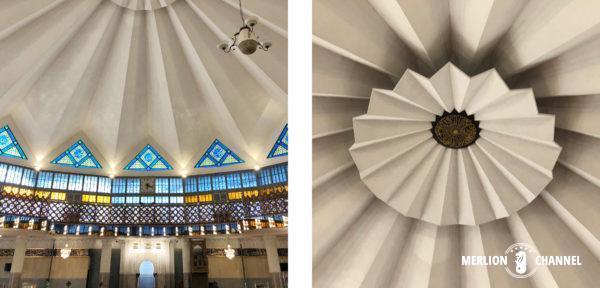 マレーシア国立モスクの天井