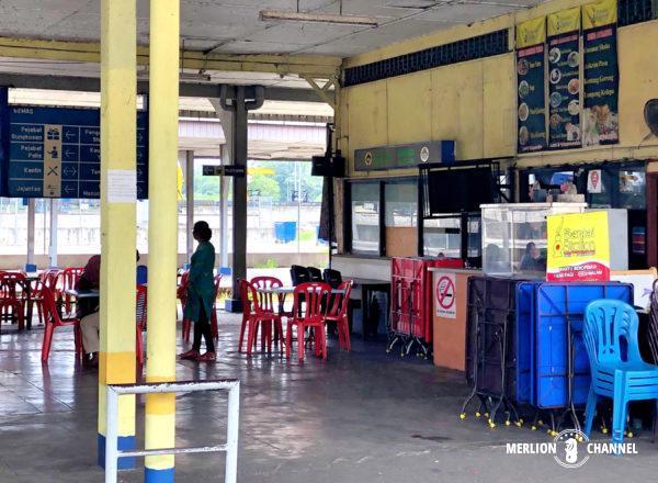 旧グマス駅を利用した食堂